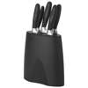 5-Piece knife block in black-solid