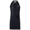 Le chef apron in black-solid
