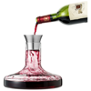 Flow wine decanter set in transparent-clear