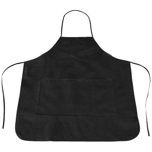 Cocina apron in black-solid