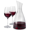 Prestige decanter with 2 wine glasses in transparent-clear