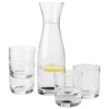 Prestige carafe with 4 glasses in transparent-clear