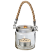 Solano glass lantern in transparent-clear