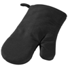 Zander cotton oven mitt in black-solid