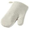Zander cotton oven mitt in off-white