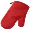 Zander cotton oven mitt in red