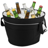 Bayport collapsible XL cooler tub in black-solid