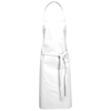 Reeva cotton apron with tie-back closure in white-solid