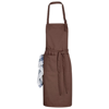 Zora apron with adjustable neck strap in brown