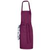 Zora apron with adjustable neck strap in burgundy