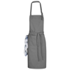 Zora apron with adjustable neck strap in grey