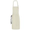 Zora apron with adjustable neck strap in khaki