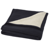 Springwood soft fleece and sherpa plaid blanket in navy