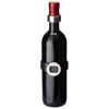 Barlot 2-piece wine thermometer and ring set in black-solid