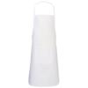 Giada cotton childrens apron in white-solid