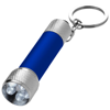Draco LED keychain light in blue-and-silver