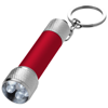 Draco LED keychain light in red-and-silver