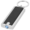 Castor LED keychain light in black-solid-and-silver