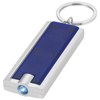 Castor LED keychain light in blue-and-silver