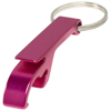 Tao bottle and can opener keychain in magenta