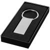 Omar rectangular keychain in silver