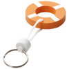 Lifesaver floating keychain in orange-and-white-solid