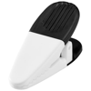 Holdz magnetic memo holder clip in black-solid-and-white-solid