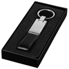Corsa strap keychain in black-solid-and-silver
