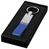 Corsa strap keychain in blue-and-silver