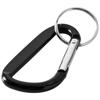 Timor carabiner keychain in black-solid