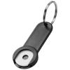 Shoppy coin holder keychain in black-solid