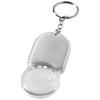 Zoomy magnifier keychain light in silver
