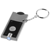 Allegro LED keychain light with coin holder in black-solid-and-silver