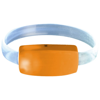 Raver wrist strap in orange-and-transparent