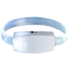 Raver wrist strap in white-solid-and-transparent-clear