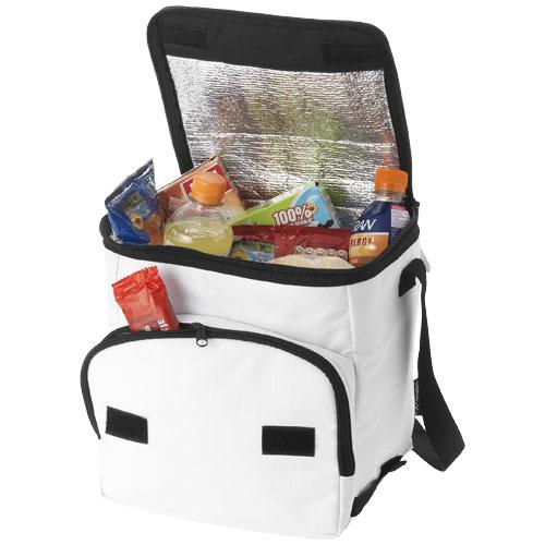 Stockholm foldable cooler bag in white-solid