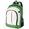 Arizona front handle backpack in white-solid-and-green