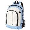 Arizona front handle backpack in white-solid-and-ice-blue