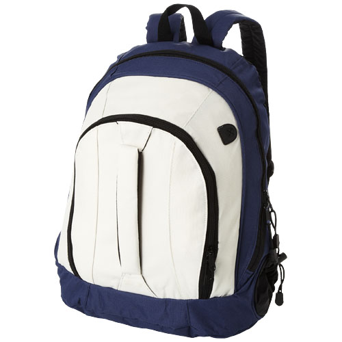 Arizona front handle backpack in white-solid-and-navy