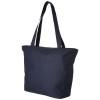 Panama zippered tote bag in navy