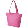 Panama zippered tote bag in pink