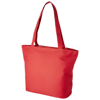 Panama zippered tote bag in red