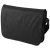 Mission non-woven messenger bag in black-solid