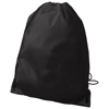 Oriole premium drawstring backpack in black-solid