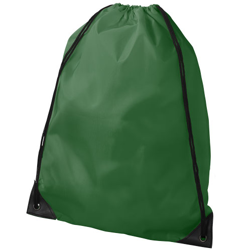 Oriole premium drawstring backpack in bright-green