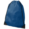 Oriole premium drawstring backpack in process-blue