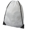 Oriole premium drawstring backpack in white-solid