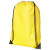 Oriole premium drawstring backpack in yellow
