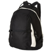 Colorado covered zipper backpack in black-solid