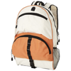 Utah backpack in orange-and-off-white